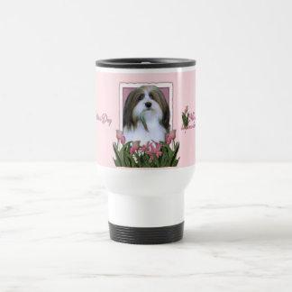Mothers Day - Pink Tulips - Havanese Travel Mug