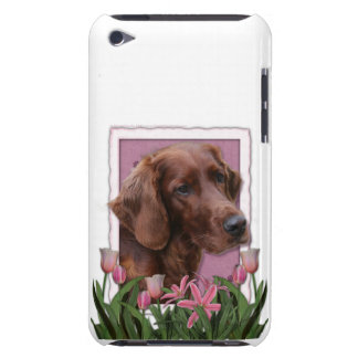 Mothers Day - Pink Tulips - Irish Setter iPod Case-Mate Cases