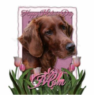 Mothers Day - Pink Tulips - Irish Setter Cutout
