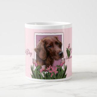 Mothers Day - Pink Tulips - Irish Setter Giant Coffee Mug