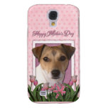 Mothers Day - Pink Tulips - Jack Russell Samsung Galaxy S4 Cases