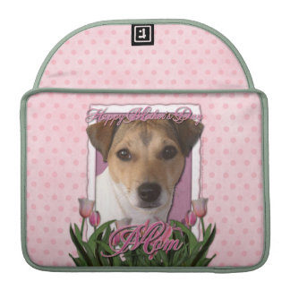Mothers Day - Pink Tulips - Jack Russell MacBook Pro Sleeve