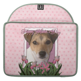 Mothers Day - Pink Tulips - Jack Russell Sleeves For MacBook Pro