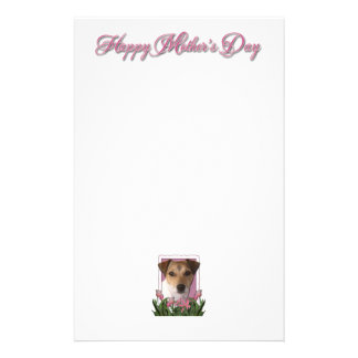 Mothers Day - Pink Tulips - Jack Russell Stationery