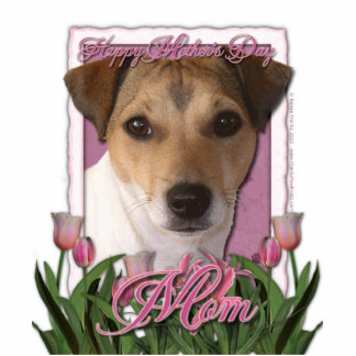 Mothers Day - Pink Tulips - Jack Russell Statuette