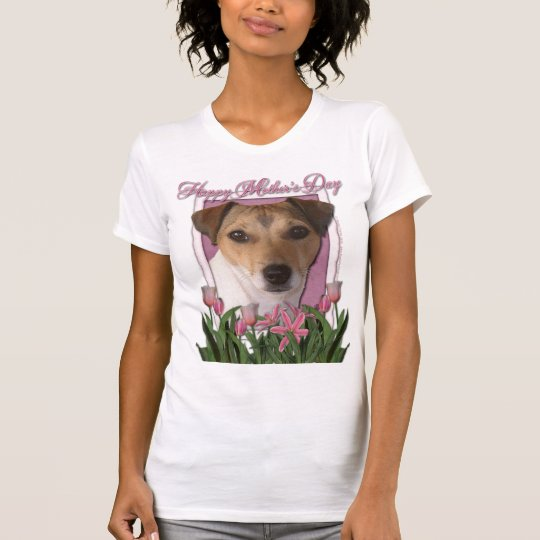 Mothers Day - Pink Tulips - Jack Russell T-Shirt