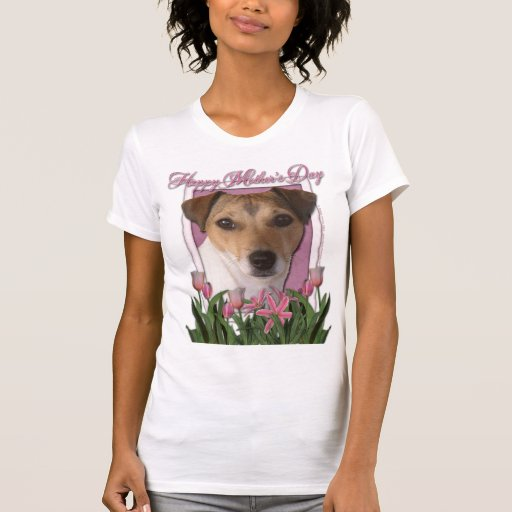 Mothers Day - Pink Tulips - Jack Russell Tees
