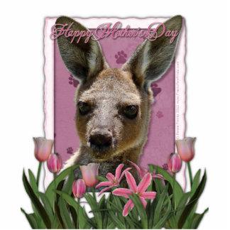Mothers Day - Pink Tulips - Kangaroo Statuette
