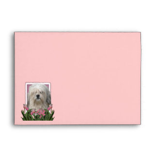 Mothers Day - Pink Tulips - Lowchen Envelope
