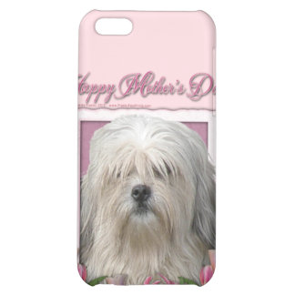Mothers Day - Pink Tulips - Lowchen Cover For iPhone 5C