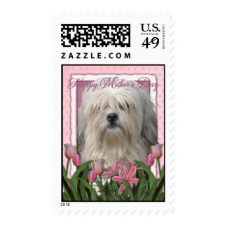 Mothers Day - Pink Tulips - Lowchen Stamp
