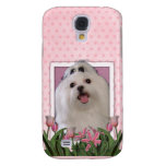 Mothers Day - Pink Tulips - Maltese Samsung Galaxy S4 Cases