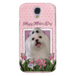 Mothers Day - Pink Tulips - Maltese Galaxy S4 Cases
