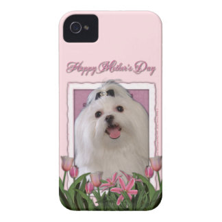 Mothers Day - Pink Tulips - Maltese Case-Mate iPhone 4 Case