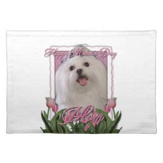 Mothers Day - Pink Tulips - Maltese Cloth Placemat