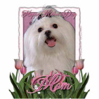 Mothers Day - Pink Tulips - Maltese Cutout