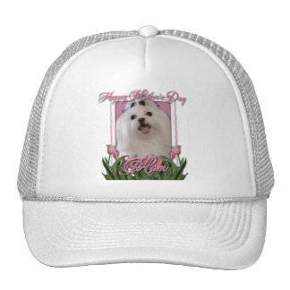 Mothers Day - Pink Tulips - Maltese Trucker Hat