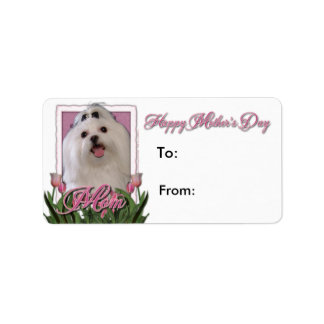 Mothers Day - Pink Tulips - Maltese Labels