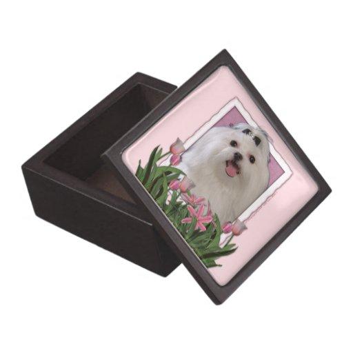 Mothers Day - Pink Tulips - Maltese Premium Keepsake Boxes