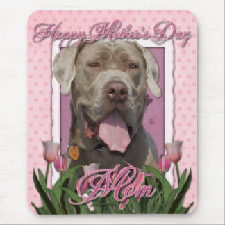 Mothers Day - Pink Tulips - Mastiff - Snoop Mouse Pad