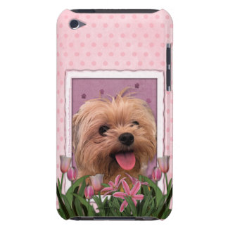 Mothers Day - Pink Tulips - Morkie - Lacey iPod Case-Mate Case