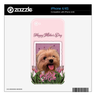 Mothers Day - Pink Tulips - Morkie - Lacey Skin For The iPhone 4