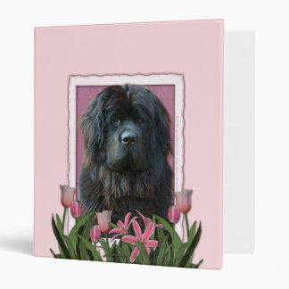 Mothers Day - Pink Tulips - Newfoundland 3 Ring Binder