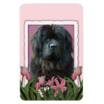 Mothers Day - Pink Tulips - Newfoundland Rectangle Magnet