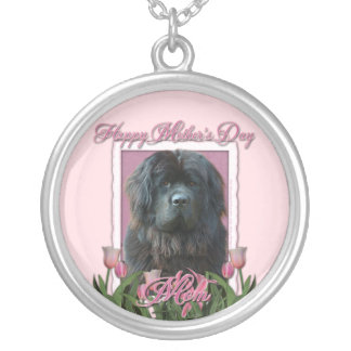 Mothers Day - Pink Tulips - Newfoundland Silver Plated Necklace