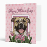 Mothers Day - Pink Tulips - Pitbull 3 Ring Binders