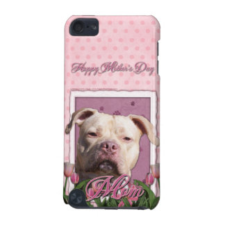 Mothers Day - Pink Tulips - Pitbull - Jersey Girl iPod Touch (5th Generation) Case