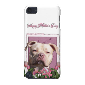 Mothers Day - Pink Tulips - Pitbull - Jersey Girl iPod Touch 5G Cover