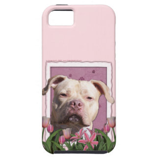 Mothers Day - Pink Tulips - Pitbull - Jersey Girl iPhone 5 Cases