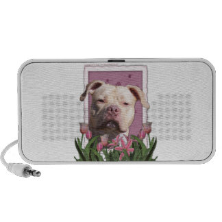 Mothers Day - Pink Tulips - Pitbull - Jersey Girl Portable Speaker