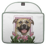 Mothers Day - Pink Tulips - Pitbull Sleeves For MacBook Pro