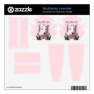 Mothers Day - Pink Tulips - Pitbull Puppy - Petey Skullcandy Skin