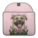 Mothers Day - Pink Tulips - Pitbull - Tigger MacBook Pro Sleeve