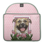 Mothers Day - Pink Tulips - Pitbull - Tigger MacBook Pro Sleeves