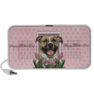 Mothers Day - Pink Tulips - Pitbull - Tigger Portable Speaker