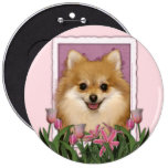 Mothers Day - Pink Tulips - Pomeranian Pin