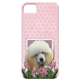 Mothers Day - Pink Tulips - Poodle - Apricot iPhone 5 Cases