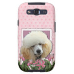 Mothers Day - Pink Tulips - Poodle - Apricot Samsung Galaxy SIII Cases