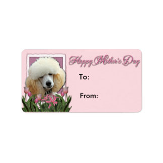 Mothers Day - Pink Tulips - Poodle - Apricot Custom Address Labels