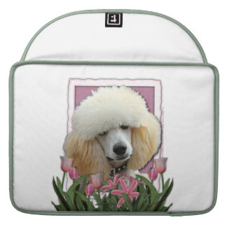 Mothers Day - Pink Tulips - Poodle - Apricot Sleeves For MacBook Pro