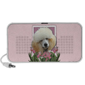 Mothers Day - Pink Tulips - Poodle - Apricot Speaker