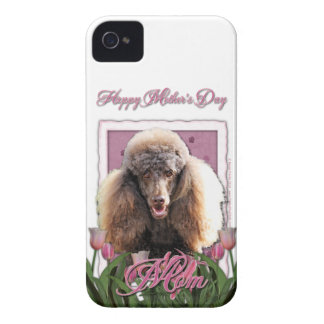 Mothers Day - Pink Tulips - Poodle - Chocolate Case-Mate iPhone 4 Case