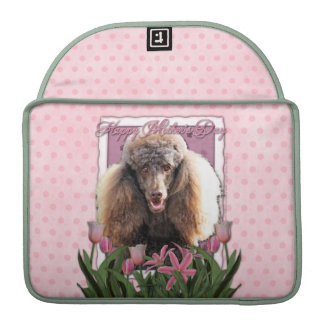 Mothers Day - Pink Tulips - Poodle - Chocolate Sleeves For MacBook Pro