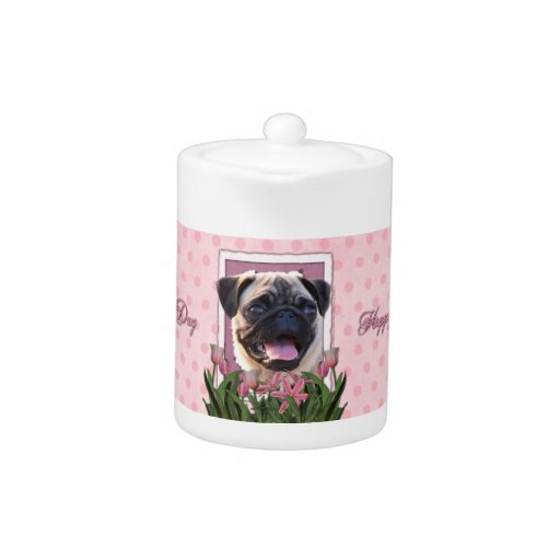 Mothers Day - Pink Tulips - Pug