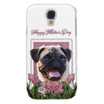 Mothers Day - Pink Tulips - Pug Samsung Galaxy S4 Cases