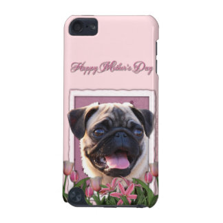 Mothers Day - Pink Tulips - Pug iPod Touch (5th Generation) Cases